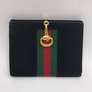 Gucci Bags - Authentic Gucci Black Suede & Leather Wallet❤️